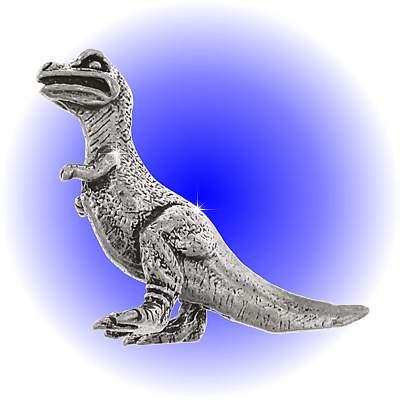 Tyrannosaurus Rex Pewter FIGURINE - Lead Free.