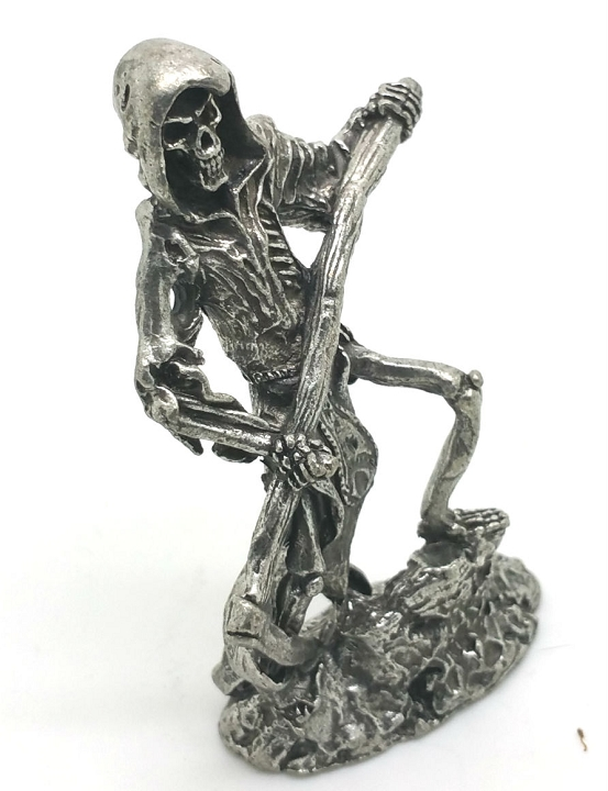 New Lead Free Grim Reaper with Sickle Pewter FIGURINE.