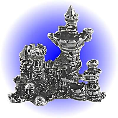 War Castle Pewter FIGURINE - Lead Free.
