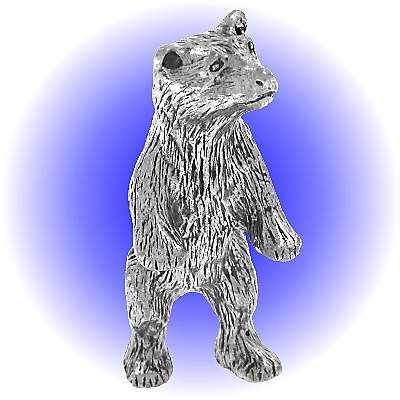 Standing Grizzly Bear - Pewter FIGURINE Lead Free
