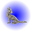 Western Howling Coyote Pewter Figurine - Lead Free