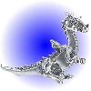 Traveling Dragon pewter figurine - Lead Free.