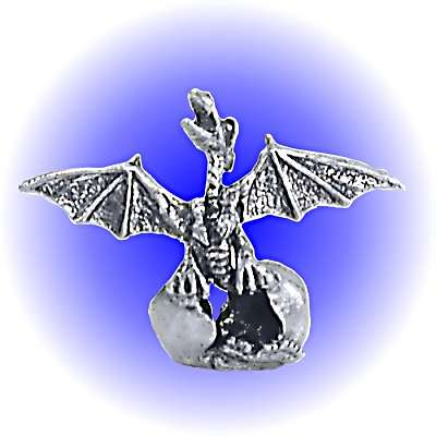 Dragon Wing Hatch Egg Pewter FIGURINE - Lead Free