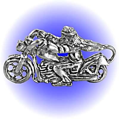 Biker Easy Rider Pewter FIGURINE - Lead Free.