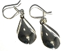 Sterling Silver Puffed Teardrops Dangle Earrings
