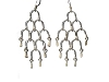 Sterling Silver Loop Water Fall Multi Dangle Earrings