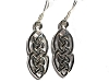 Sterling Silver Celtic Double Knotted Tear Dangle Earring