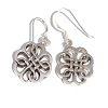 Sterling Silver Celtic Riddle Clover Dangle Earring