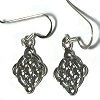 Sterling Silver Celtic Riddle Window Dangle Earring