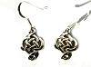 Sterling Silver Celtic Knotwork Drop Dangle Earrings