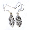 Sterling Silver Celtic Tear Dangle Earring
