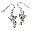 Sterling Silver Harmony Angel Dangle Earring