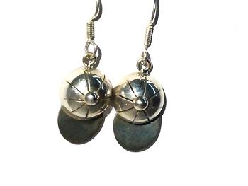 Sterling Silver BASEBALL CAP Dangle Earrings