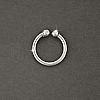 925 Sterling Silver 7mm x 1mm Body Clip Sold by the Each