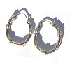 Sterling Silver 18mm Bali Style 4 coil Hoop Earrings
