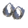 Sterling Silver 18mm Bali Style 4 coils and 2 S waves Hoop Earrings