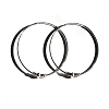 Sterling Silver Bali 50mm Endless Hoop Earrings