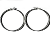 Sterling Silver Italian Pin Catch 2 Inch Hoop Earrings