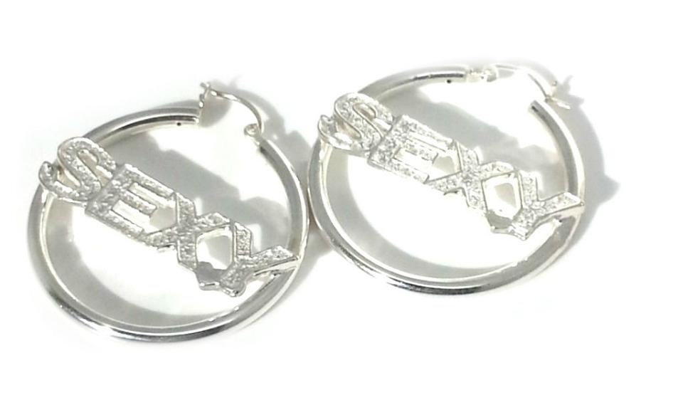Sterling Silver SEXY Hoop DANGLES Earring