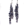 Sterling Silver Genuine Iolite Long Dangle Earrings