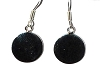 Sterling Silver Smooth Coin DIsc dangle earrings