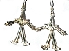 Sterling Silver 3D Movable Clown Dangle Earrings