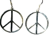 Sterling Silver Peace Symbol Dangle Earrings