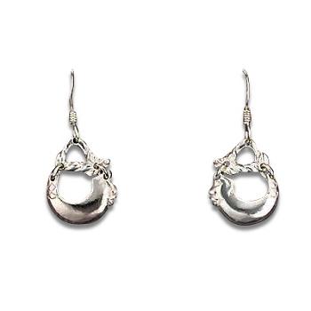 Sterling Silver FISHING dangle Earrings