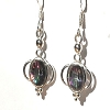 Sterling Silver Rainbow Mystic Quartz Earrings