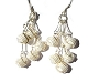 Sterling Silver Sparkling Wrapped Balls Dangle Earrings