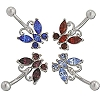 Banana 5 Cz Butterfly 14g / 10mm-Lg / 5mm Ball