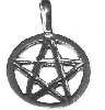 Sterling Silver 5 Point Star Etched out Pentagram Pendant