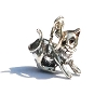 Sterling Silver 925 Sleek Crouching Kitty Charm Pendant.