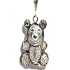 Sterling Silver Diamond Cut Filigree Teddy Bear Pendant