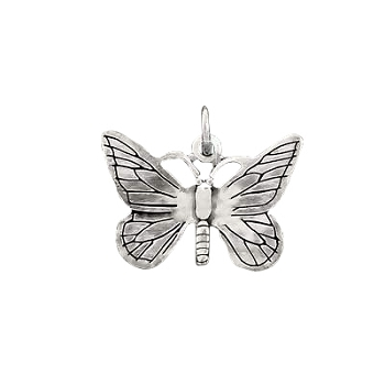 925 Sterling Silver Butterfly Pendant Charm