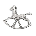 Sterling Silver Rocking Horse Figurine Pendant