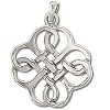 Sterling Silver Celtic Infinity Weave Pendant
