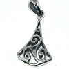 Sterling Silver Celtic Triskelion Pendant with Bell Shape.