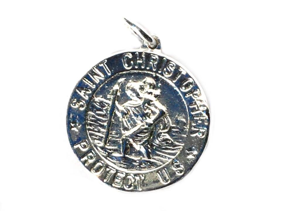 Sterling Silver SAINT Christopher Medallion Pendant