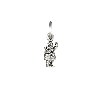 Sterling Silver Santa Clause FIGURINE Charm Pendant