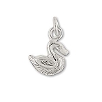 Sterling Silver Duck Pendant