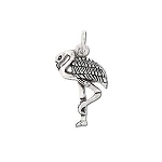 Sterling Silver Standing Flamingo Pendant