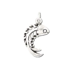 Sterling Silver  Fish Bone Pendant