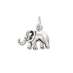 925 Sterling Silver Good Luck Elephant Pendant