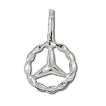 Sterling Silver Diamond Cut Peace Sign Symbol