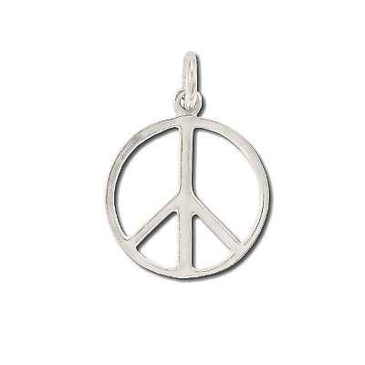 Sterling Silver PEACE Symbol Pendant