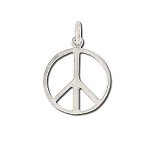 Sterling Silver Peace Symbol Pendant