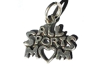Sterling Silver All Sports Mom Charm Pendant