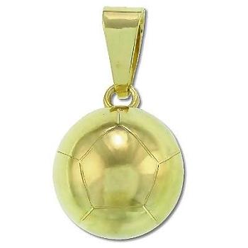 Sterling Silver Vermeil Large Chiming SOCCER Ball Pendant