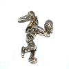 Sterling Silver Volleyball Player Charm Pendant